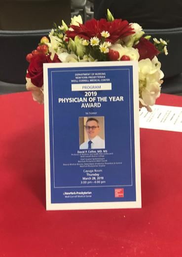 2019 Physician of the Year poster