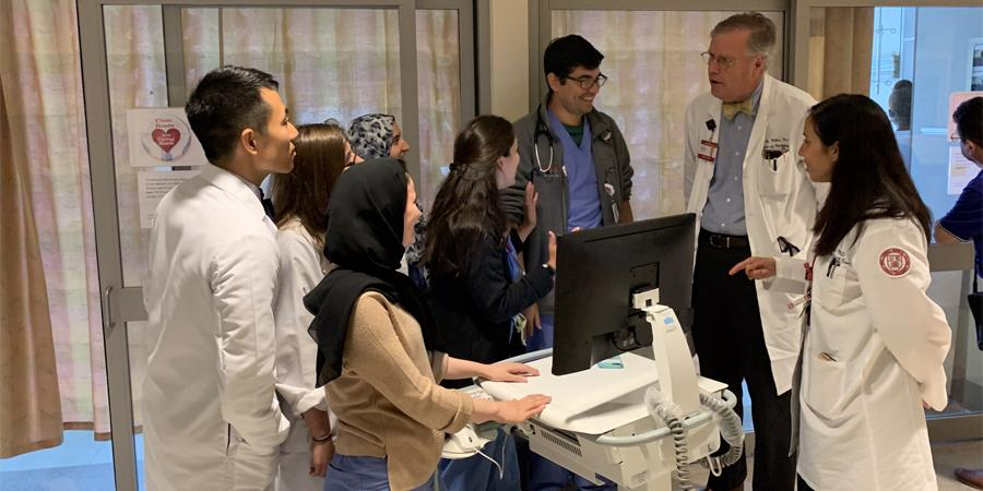 Dr. David Miller with residents
