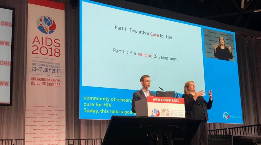 Dr. Jones at the 22nd International AIDS Conference