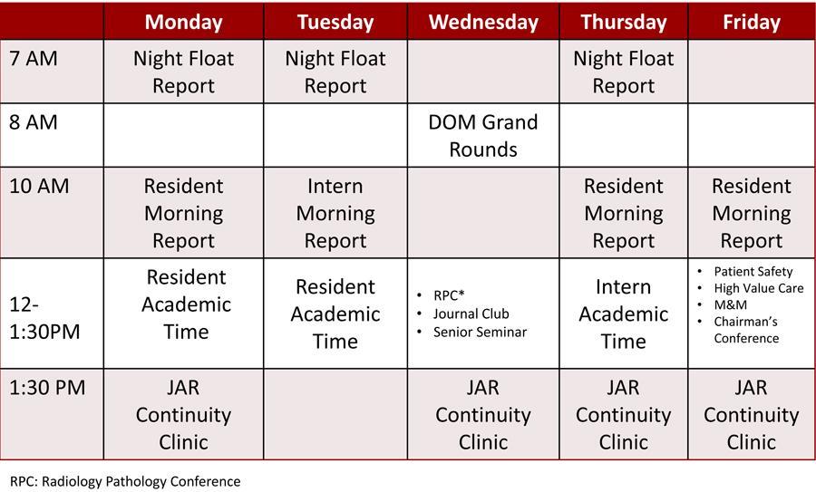 Inpatient Conference Schedule 2016-17