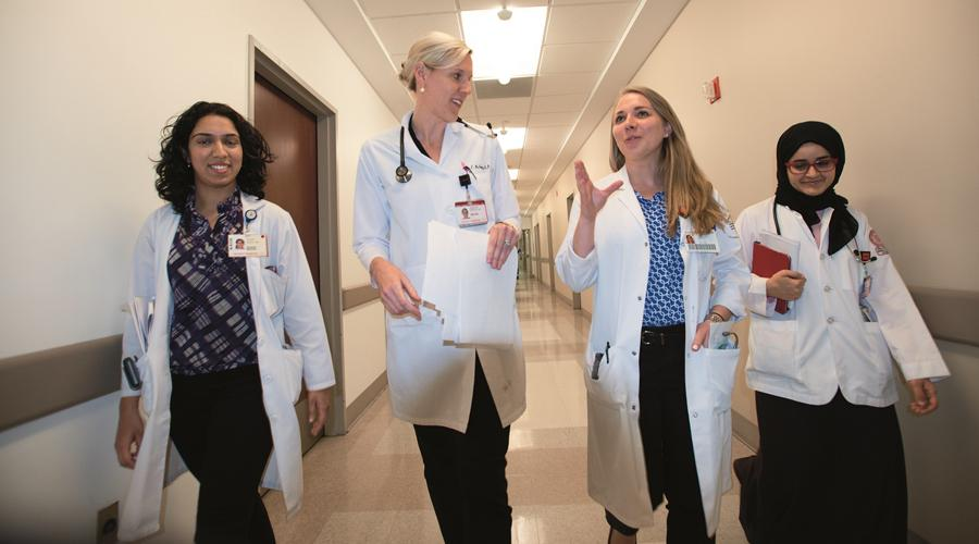 Dr. Molly McNairy on rounds
