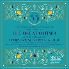 "Crohns and Colitis Foundation ""Great Gutsby"" invitation"